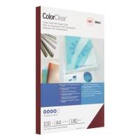 Обложки для переплета пластиковые GBC прозрачные A4 180 мкм красные